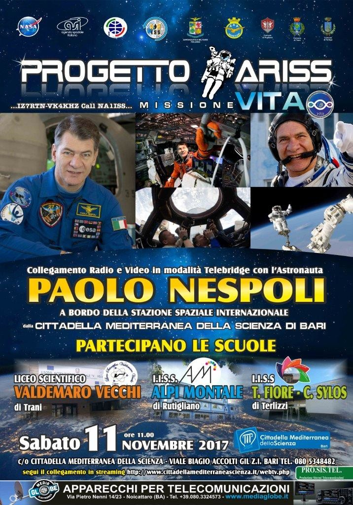 Locandina evento Ariss del 11 Novembre 2017